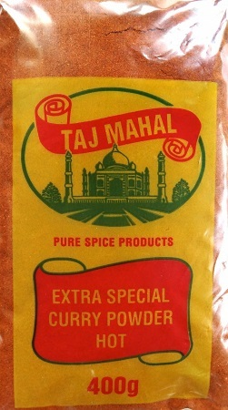 Taj Mahal Curry Powder Hot 400g