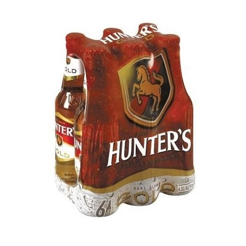 Hunters Gold 330ml Bottle 6 Pack